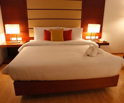 Business Room Only, The standard room category of this hotel, these rooms come with an option of Queen and Twin beds and all the modern amenities. Facilities like tea coffee maker, electronic safe, mini bar makes your stay cozy and comfortable