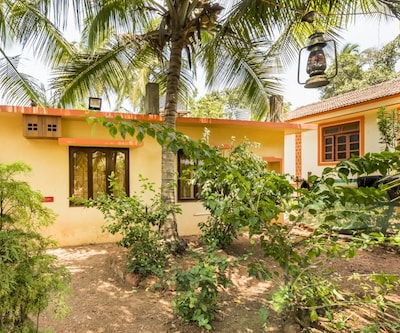 Peaceful abode for three, 1 km from Vagator Beach,Goa