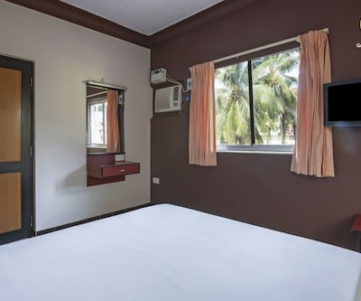 Serene room with a balcony, none,
