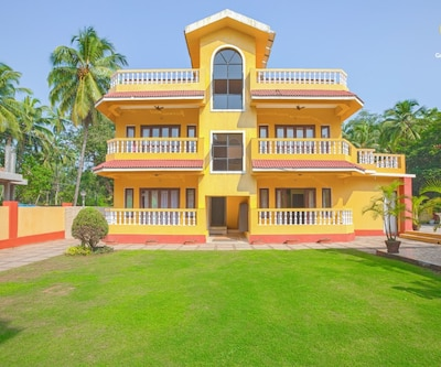 Vibrant 1-bedroom apartment, 900 m from Calangute beach,Goa