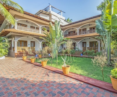 Chic abode for three, 700 m from Agonda Beach,Goa