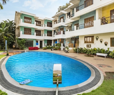 Chic studio apartment for a couple, 2.2 km from Baga Beach,Goa