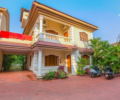 4-bedroom villa, 3.1 km from Baga Beach,Goa