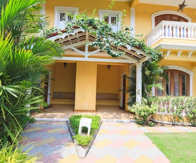 Tranquil 3-bedroom villa, a 10 min drive away from Calangute beach,Goa