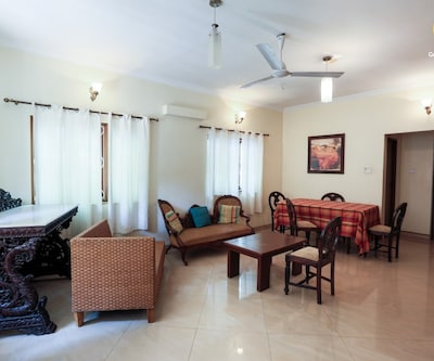 Classic 4-bedroom pool villa lush with greenery,Goa