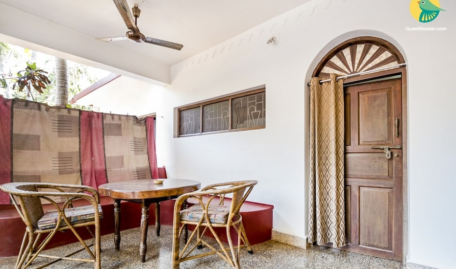 1-bedroom tranquil cottage for 3, 1.7 km from Calangute Beach, Calangute,