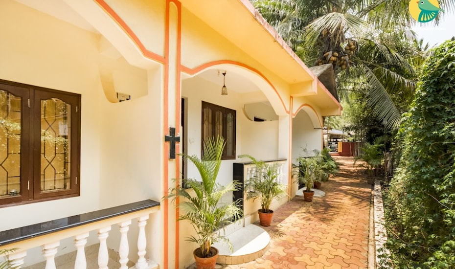 Peaceful abode for three, 1 km from Vagator Beach, Vagator,
