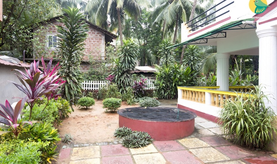 Single bedroom in a guest house, 850 m from Calangute Beach, Baga Road,