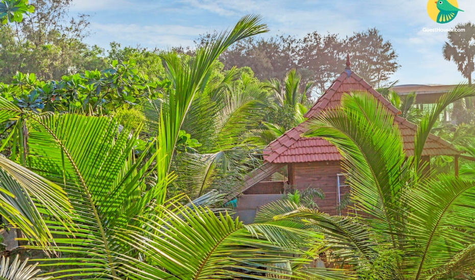 Quaint wooden cottage for two, close to Calangute Beach, Khobra Waddo,