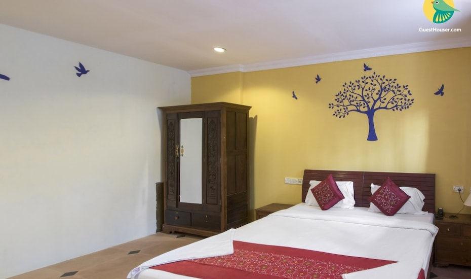 Single boutique room with a shared pool, 3 km from Calangute beach, Calangute,