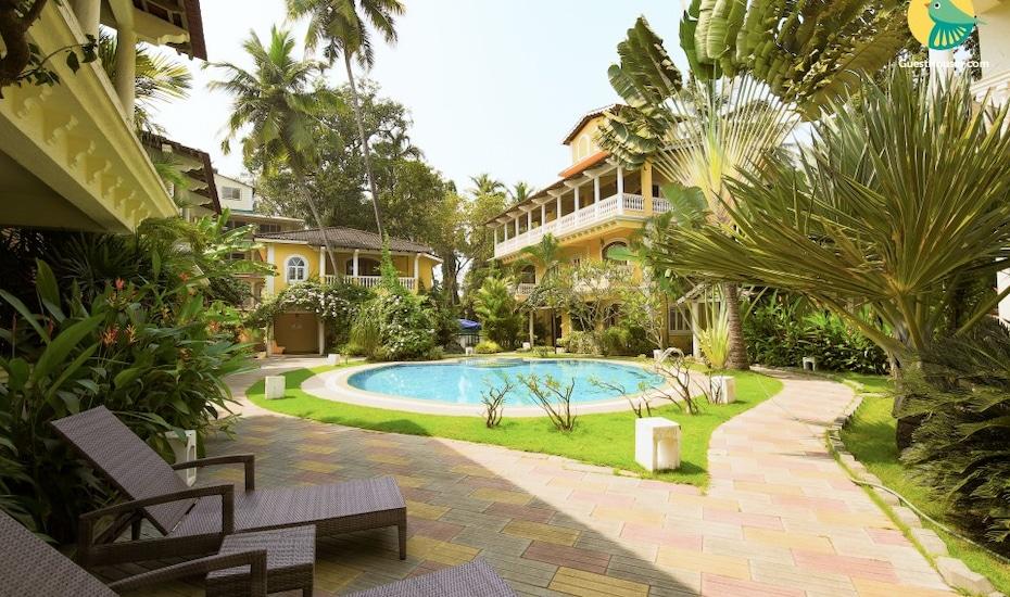 Tranquil 3-bedroom villa, a 10 min drive away from Calangute beach, Nagoa,