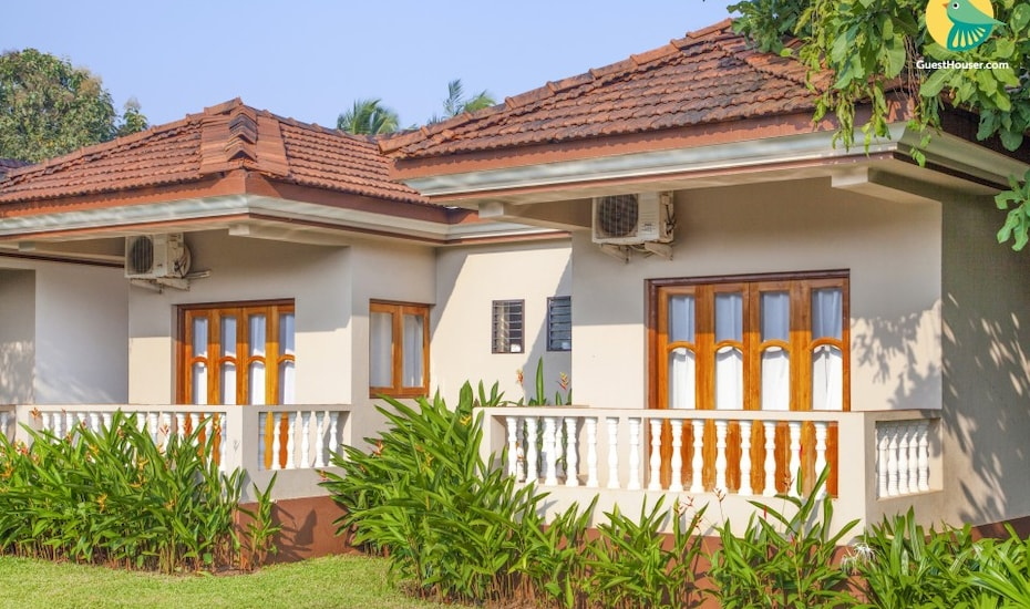Traditional boutique retreat, 1.9 km from Vagator beach, Vagator,