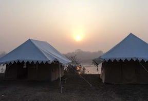 Camping at Blue Bull in Orchha