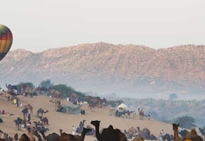 Pushkar Hot Air Ballooning Festival