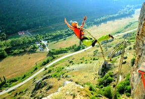 Giant Swing in Rishikesh with Bungee Jump