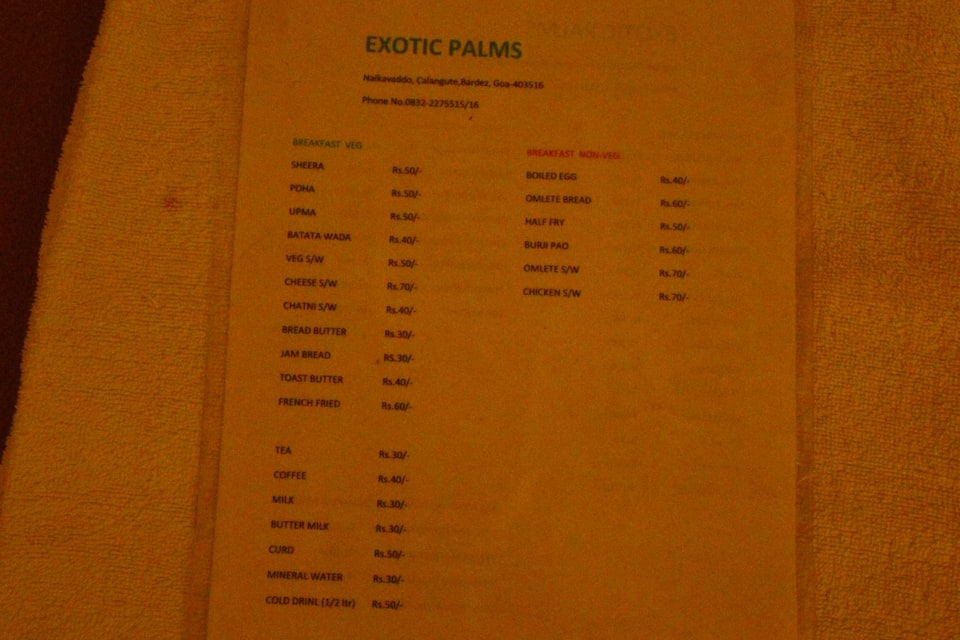Exotic Palms, Calangute, Exotic Palms