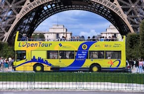 Paris Hop-On Hop-Off Bus Pass - 1 Day Pass (2 & 3 Day Pass Also Available)