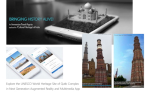 Augmented Reality & Multimedia Tour of Qutub Minar & its Monuments (App based Audio & Multimedia Guide)