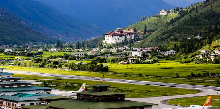 Paro International Airport Routes, Map and Contact Information