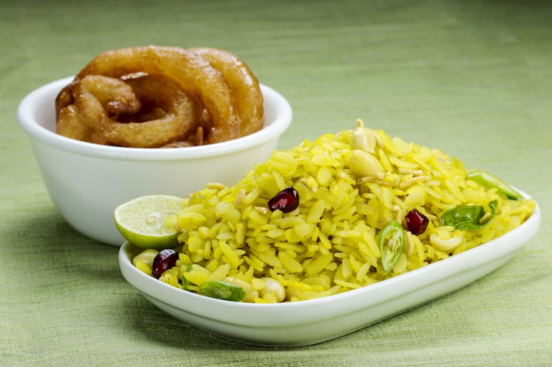 Image result for Poha-Jalebi
