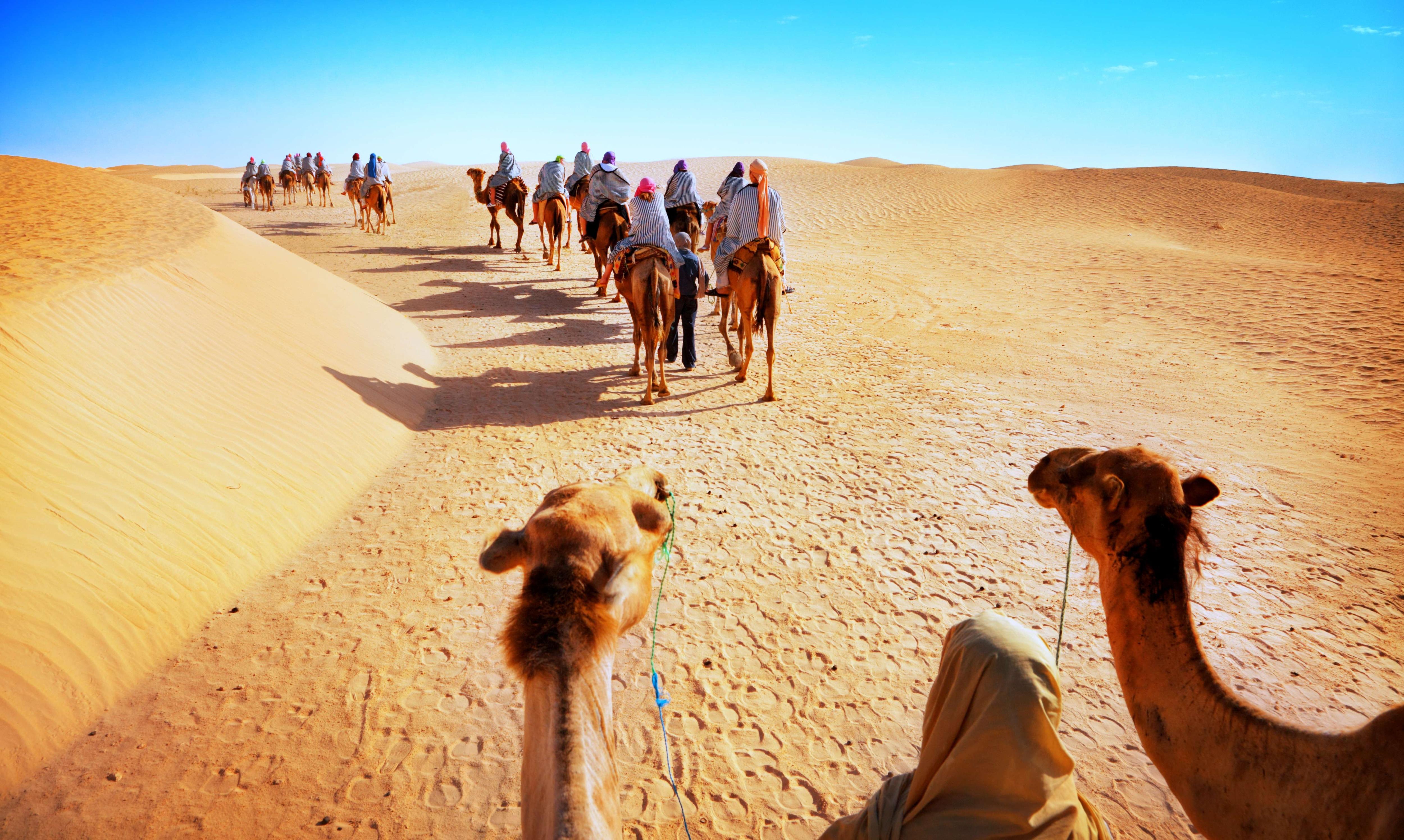 Camel Safari in the Desert - JAISALMER, INDIA ... - YouTube